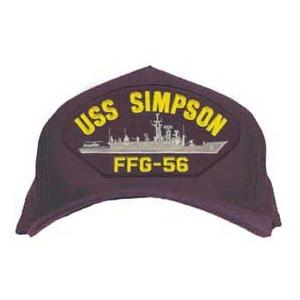USS Simpson FFG-56 Cap (Dark Navy) (Direct Embroidered)