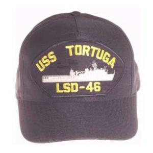 USS Tortuga LSD-46 Cap (Dark Navy) (Direct Embroidered)