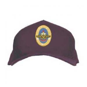 Naval War College Cap with Logo (Dark Navy)