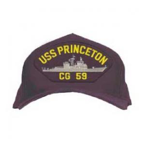 USS Princeton CG-59 Cap (Dark Navy) (Direct Embroidered)