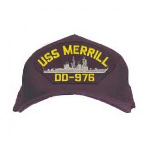 USS Merrill DD-976 Cap (Dark Navy) (Direct Embroidered)