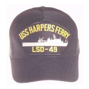 USS Harpers Ferry LSD-49 Cap (Dark Navy) (Direct Embroidered)