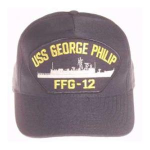 USS George Philip FFG-12 Cap (Dark Navy) (Direct Embroidered)
