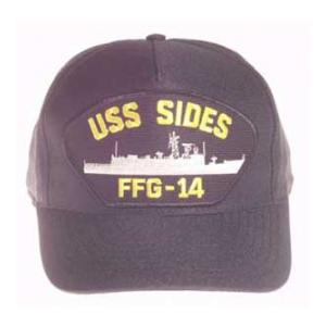 USS Sides FFG-14 Cap (Dark Navy) (Direct Embroidered)