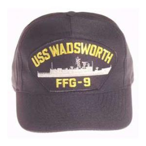 USS Wadsworth FFG-9 Cap (Dark Navy) (Direct Embroidered)