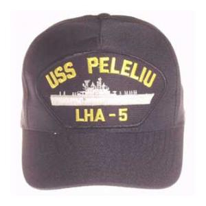 USS Peleliu LHA-5 Cap (Dark Navy) (Direct Embroidered)