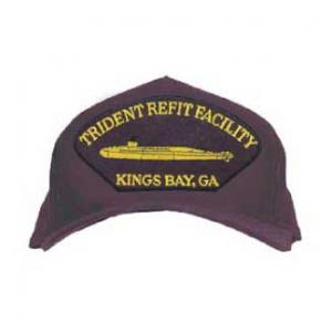 Trident Refit Facility - Kings Bay, GA Cap with Gold Sub Logo (Dark Navy)