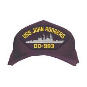 USS John Rodgers DD-983 Cap (Dark Navy) (Direct Embroidered)