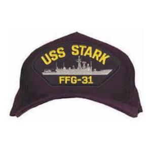 USS Stark FFG-31 Cap (Dark Navy) (Direct Embroidered)