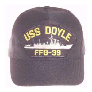USS Doyle FFG-39 Cap (Dark Navy) (Direct Embroidered)