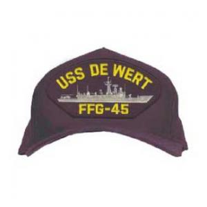 USS De Wert FFG-45 Cap (Dark Navy) (Direct Embroidered)