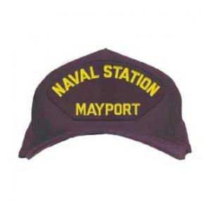 Naval Station - Mayport Cap with Letters Only (Dark Navy) (Direct Embroidered)