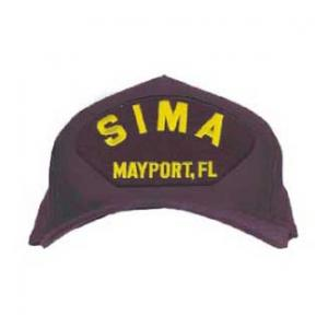 SIMA - Mayport, FL Cap with Letters Only (Dark Navy) (Direct Embroidered)