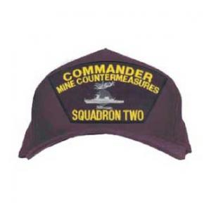 Commander Mine Countermeasures Squadron Two Cap with Emblem (Dark Navy)