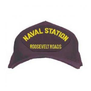 Naval Station - Roosevelt Roads Cap (Dark Navy) (Direct Embroidered)