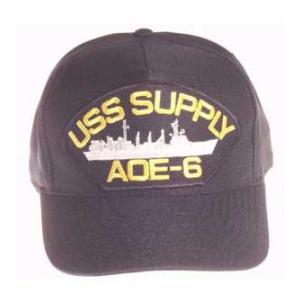 USS Supply AOE-6 Cap (Dark Navy) (Direct Embroidered)