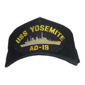USS Yosemite AD-19 Cap (Dark navy) (Direct Embroidered)