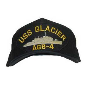 USS Glacier AGB-4 Cap with Boat (Dark Navy) (Direct Embroidered)
