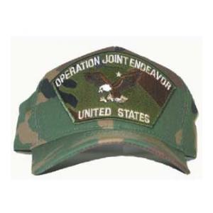 Operation Joint Endeavor US Cap with Eagle (Woodland Camo)