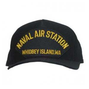 Naval Air Station - Whidbey Island, WA Cap (Dark Navy) (Direct Embroidered)