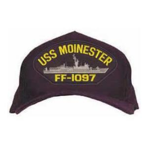 USS Moinester FF-1097 Cap (Dark Navy) (Direct Embroidered)