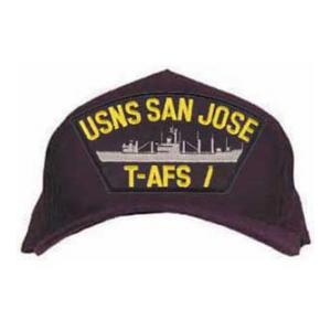 USNS San Jose T-AFS 7 Cap (Dark Navy) (Direct Embroidered)