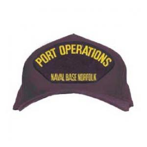 Port Operations - Naval Base Norfolk Cap (Dark Navy) (Direct Embroidered)