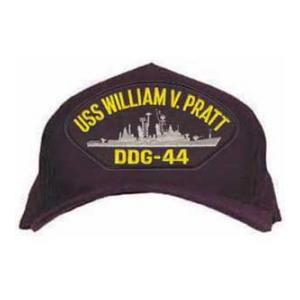 USS William V. Pratt DDG-44 Cap (Dark Navy) (Direct Embroidered)