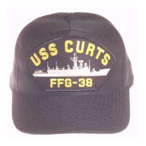 USS Curts FFG-38 Cap (Dark Navy) (Direct Embroidered)