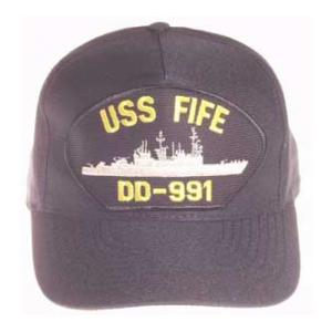 USS Fife DD-991 Cap (Dark Navy) (Direct Embroidered)