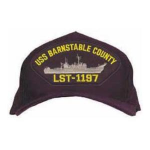 USS Barnstable County LST-1197 Cap (Dark Navy) (Direct Embroidered)