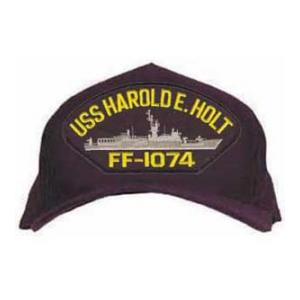 USS Harold E. Holt FFG-1074 Cap (Dark Navy) (Direct Embroidered)
