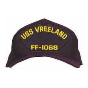USS Vreeland FF-1068 Cap (Dark Navy) (Direct Embroidered)