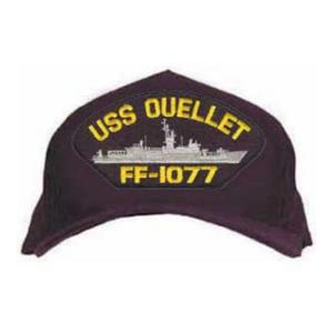 USS Ouellet FF-1077 Cap (Dark Navy) (Direct Embroidered)
