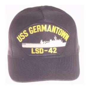USS Germantown LSD-42 Cap (Dark Navy) (Direct Embroidered)