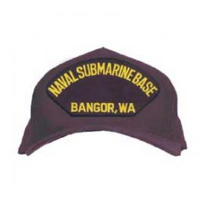 Naval Submarine Base - Bangor, WA Cap (Dark Navy) (Direct Embroidered)