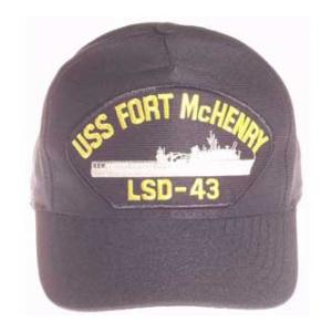 USS Fort Mc Henry LSD-43 Cap (Dark Navy) (Direct Embroidered)