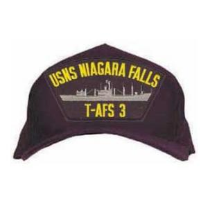 USNS Niagara Falls T-AFS 3 Cap (Dark Navy) (Direct Embroidered)