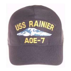 USS Rainer AOE-7 Cap (Dark Navy) (Direct Embroidered)