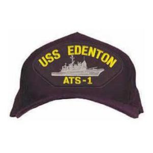 USS Edenton ATS-1 Cap with Boat (Dark Navy) (Direct Embroidered)