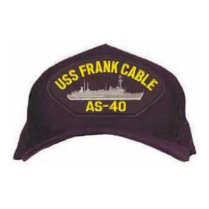 USS Frank Cable AS-40 Cap with Boat (Dark Navy)