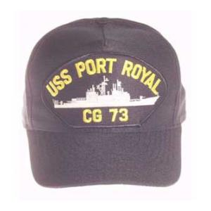 USS Port Royal CG-73 Cap (Dark Navy) (Direct Embroidered)