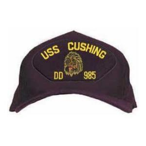 USS Cushing DD-985 Cap with Lion (Dark Navy) (Direct Embroidered)