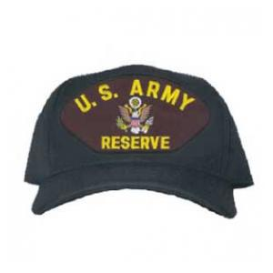Army Reserve Cap (Black) (Direct Embroidered)