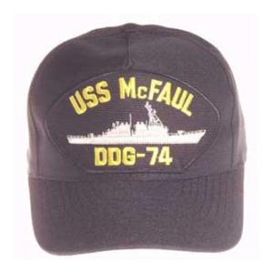 USS Mc Faul DDG-74 Cap (Dark Navy) (Direct Embroidered)