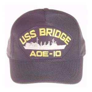 USS Bridge AOE-10 Cap with Boat (Dark Navy) (Direct Embroidered)
