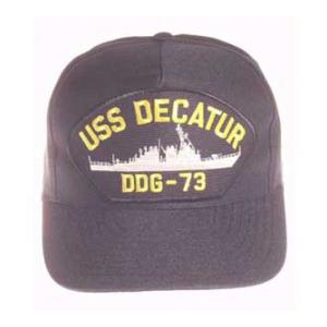 USS Decatur DDG-73 Cap (Dark Navy) (Direct Embroidered)