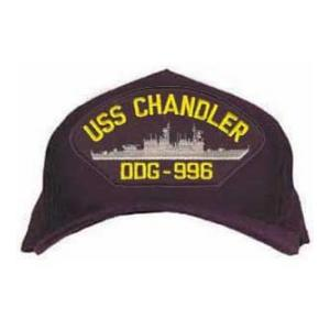 USS Chandler DDG-996 Cap (Dark Navy) (Direct Embroidered)