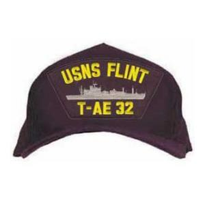 USNS Flint T-AE 32 Cap (Dark Navy) (Direct Embroidered)
