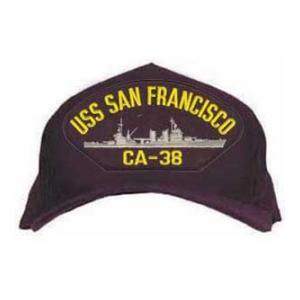 USS San Francisco CA-38 Cap (Dark Navy) (Direct Embroidered)